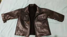 Jaqueta infantil de couro