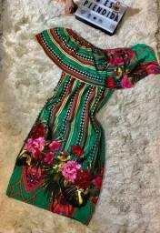 Vestido estampa floral - modelo tule