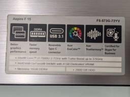 "Notebook 15.6"" i7 16gb GeForce 940MX SSD 500gb HDD 2tb"