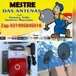 Instalacao de antenas e vendas de receptores a partir de 850 reais