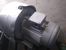 Compressor radial duplo estágio 12 cv 220 v ou 380 v trifásico 380m³/h sucção e sopro
