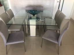 Conjunto Mesa quadrada e 8 cadeiras