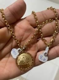 Cordão feminino em ouro 18k