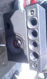 So vendo caixa de som automotivo alto falante seco do bíxo papao com corneteira completo