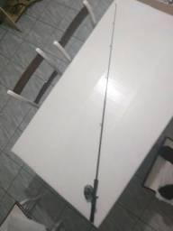 Zebco 33 Authentic Spincast vara telescópica e carretilha. 6' Duas Peças