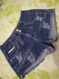 """Shorts jeans feminino numeração """"36"""""""