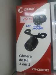 Câmera de ré 2 em 1 com infra vermelho