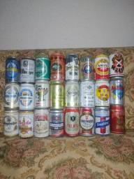Lote 70 Latas de Cerveja Antigas Importadas Antigas