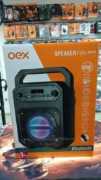 Título do anúncio: Caixa De Som Bluetooth 90w Oex 1 Ano De Garantia