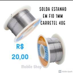SOLDA ESTANHO EM FIO 1MM CARRETEL 40G SQ-3040