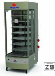 Frangueira/forno multiuso giratório 76kg 7 grelhas Progas Novo Frete Grátis
