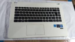Título do anúncio: Carcaça Base Notebook Asus X451m Branco Detalhe - 036
