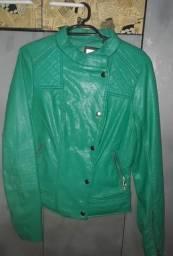 jaqueta courino verde