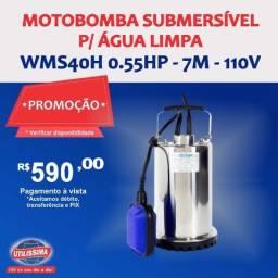 Motobomba Submersível para Água Limpa 1/2HP ? Entrega grátis