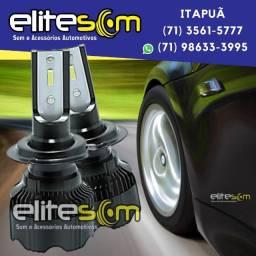 Lâmpada Ultra Led Asx 6000k 7000 Lúmens instalada na Elite Som