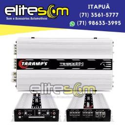 Módulo Amplificador Taramps Ts1200x4 4 Canais 2 Ohms instalado na Elite Som