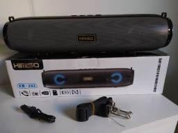 Título do anúncio: Caixa de Som Kimiso Km-203 cinza - Bluetooth Sd USB Rádio Fm