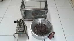 Corta de batatas fritadeira elétrica e Estufa (a estufa não está esquentando )
