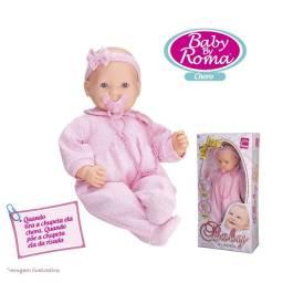Boneca Baby By Roma Chora E Ri Com Chupeta