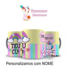 Unicornios Caneca Teu Cu Frases engraçadas. Fazemos a personalização como você desejar