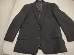 Título do anúncio: Paletó Cia do terno Slim preto / Blazer - Acompanha calça