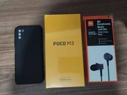 Xiaomi Poco M3 64GB 4GB Versão Global Azul +Mi Earphones +Capa