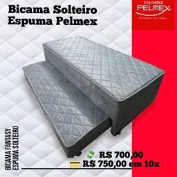 Entrega grátis de bicama Solteiro Pelmex D28