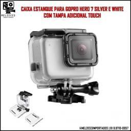 Título do anúncio: Caixa Estanque Para Hero 7 Silver e White com Tampa adicional Touch