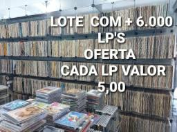 VINIL- LOTE C/6.000 LP'S