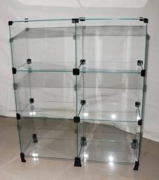 Vidro para balcão modulado temperado Incolor 4mm