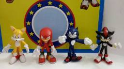 Bonecos Sonic The Hedgehog - Kit com 4 personagens