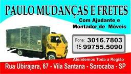 Mudanças / Carretos / Fretes - Com Ajudantes e Montador - Ótimos Preços (15) 99755-5090
