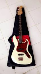 Contra baixo mais pedaleira eletrônica com capa (violão guitarra teclado sonorização)