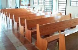 Banco para Igreja em madeira maciça