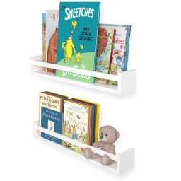 Prateleira Montessori Para Livros Em Mdf Branco 60 Cm (unidade)