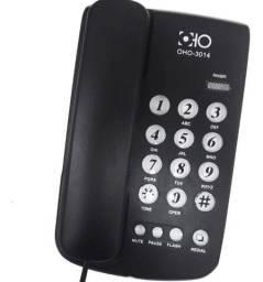 Telefone Com Fio Na Cor Preto Modelo - Oho-3014