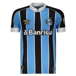 Camisa Umbro Grêmio I 2019 Libertadores - Azul