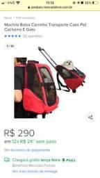 Bolsa/mochila transporte pet