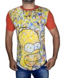 Camisas Long Line Camisetas Masculina Oversize Swag 100% Algodão Atacado Alta Qualidade