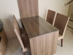 Jogo cadeiras (04 cadeiras em suede)