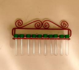 Porta tempero Simples com tubinhos. Cod. D002