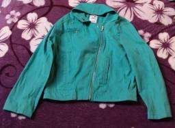 Jaqueta feminina jeans verde - Marisa