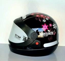 Título do anúncio: Artigos Capacete Moto Feminino Floral Automático Protork Jogos