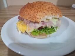Hambúrguer na chapa