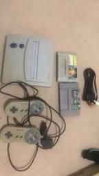 Super Nintendo baby Snes completo + 2 jogos