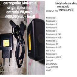 Carregador Motorola original,entrada normal (V8),novo,r$50,00(valor final)/leia o anúncio