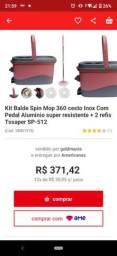 Balde spin Mop 360 cesto inox