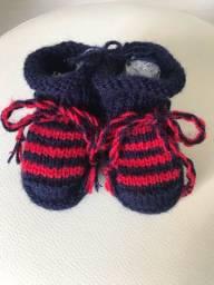 Sapatinho em lã para bebê