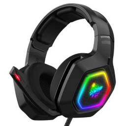 Headset Fone Gamer Preto Onikuma RGB K10 Profissional