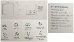 Luminária Painel LED Forro Modular Mineral ou Drywall